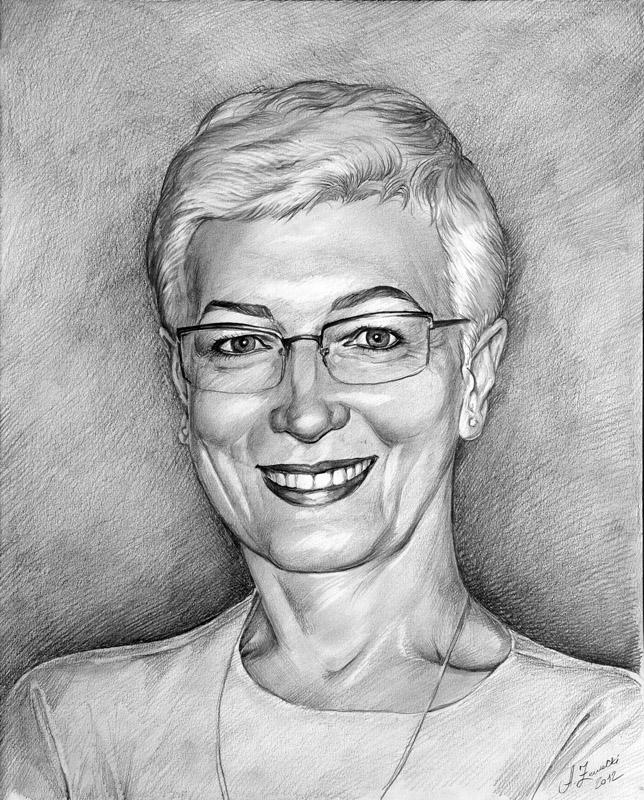 Portret kobiety olowkiem