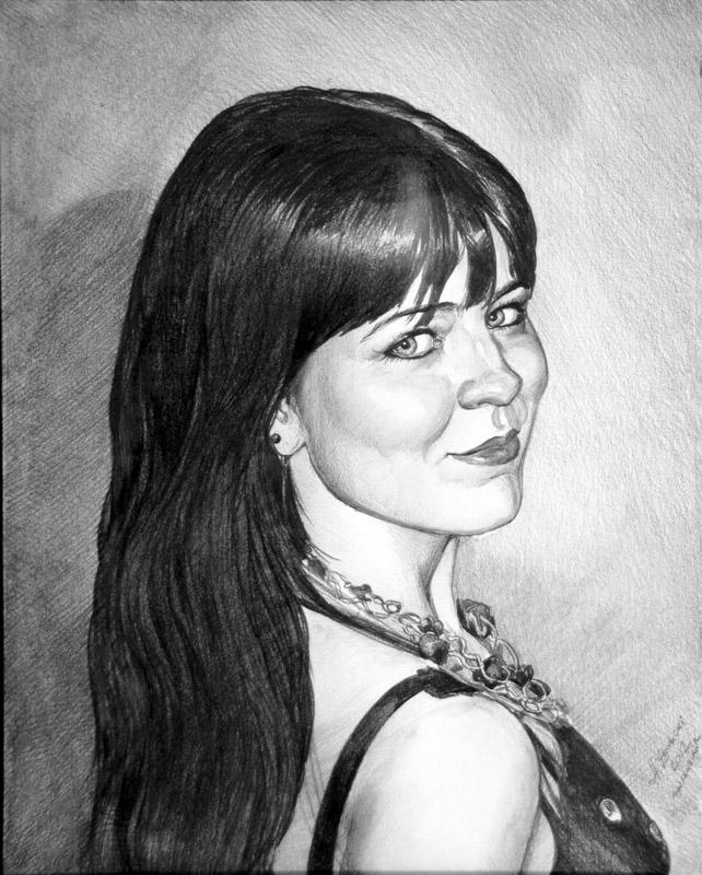 portret dziewczyny olowkiem