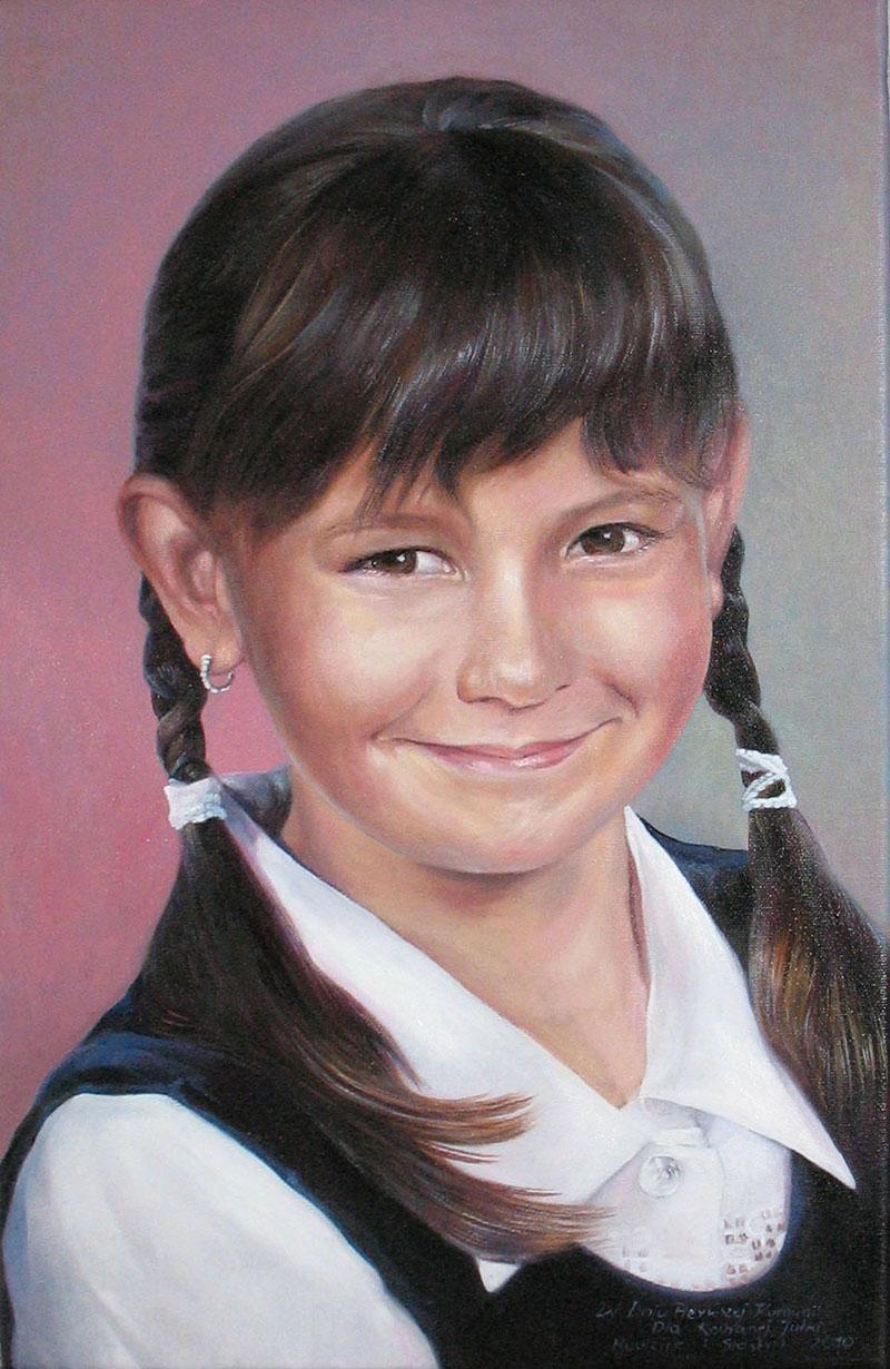 portret olejny ze zdjêcia