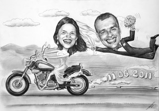 Panna M³oda motocyklistka